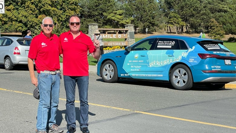 Western Canadians set time record for driving cross-country in an EV